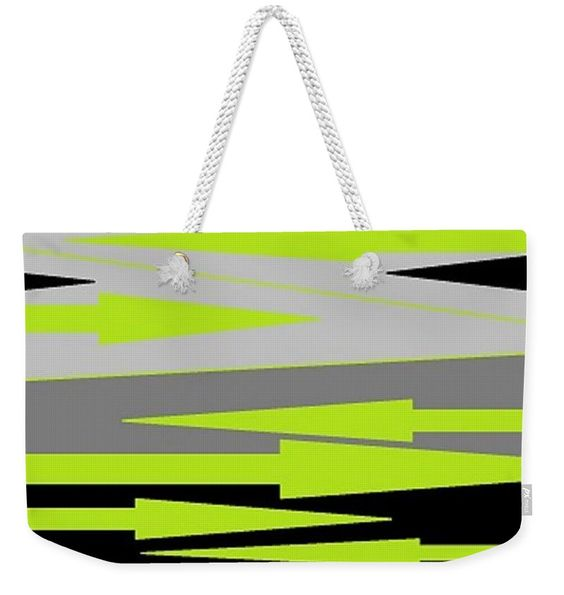Weekender Tote Bag of 'Spear Thrower' by Sumi e Master Linda Velasquez.