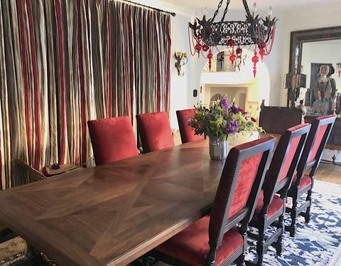 My Favorite Red Interiors With Images Interior Interior Design Projects Upholstered Dining Chairs