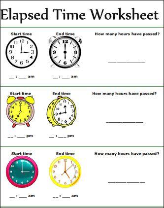 elapsed time math lesson plans and worksheets on pinterest. Black Bedroom Furniture Sets. Home Design Ideas
