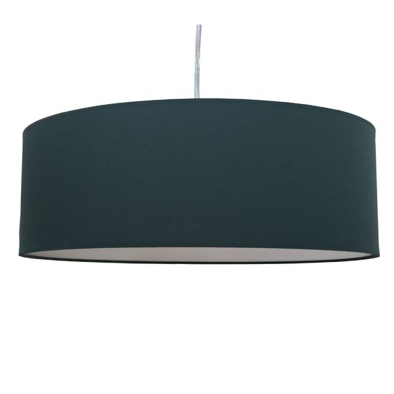Thin Drum Pendant Shade in Forest Cotton