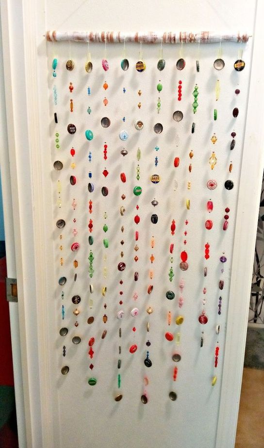 Beads And Bottlecaps Wall Hanging Wall Hanging Diy Bottle Cap Crafts Wall Hanging