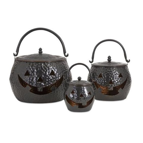These hammered metal pumpkins will be a perfect addition to your Halloween decor.