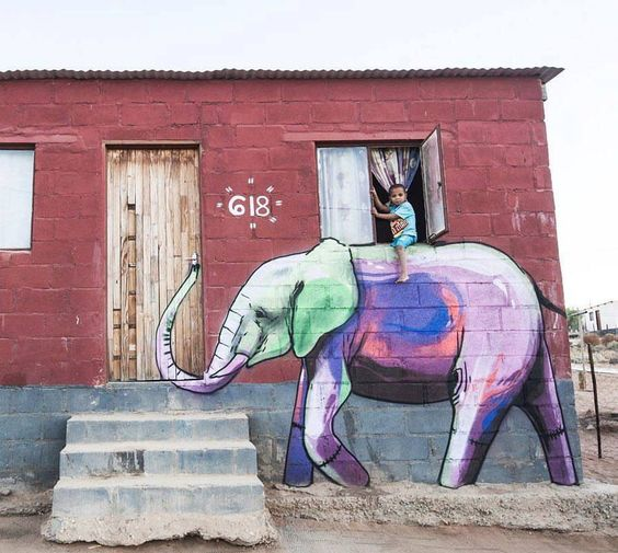 Street Art by Falko one in Garies, South Africa: