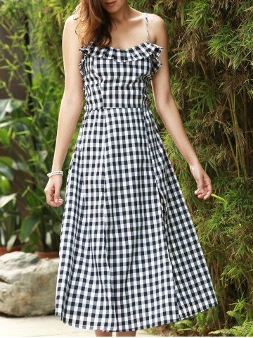gingham plaid dress
