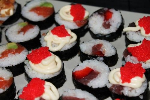 sushi glam cocktail style