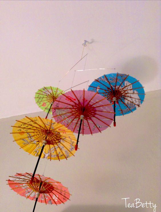 Paper Parasol Mobile From Hong Kong Beautiful Paper Parasol Paper Umbrellas Chinese Art