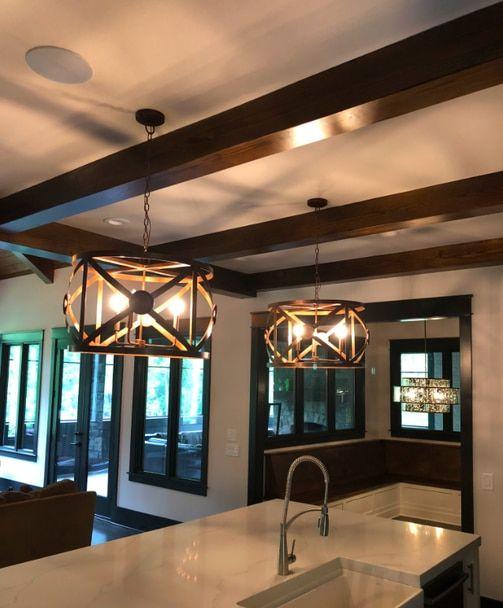When Only The Best Kitchen Island Lighting Is Needed St James X Drum Copper Chandelier Diy Kitchen Lighting Dining Room Interiors Copper Chandelier