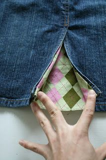 Kick pleat- add some fun fabric to make a skirt with a higher slit more modest