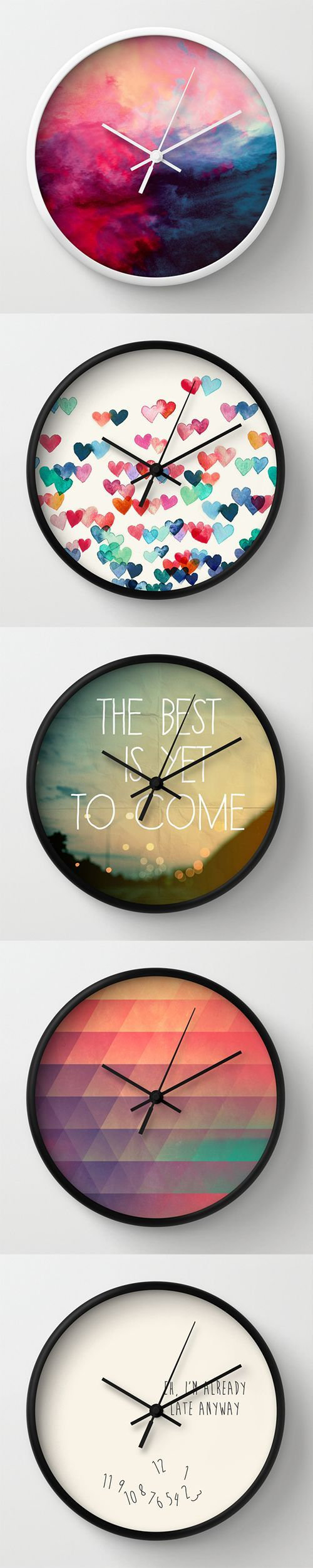Wall Clocks and millions of other products available atSociety6.com today. Every purchase supports independent art and the artist that created it.