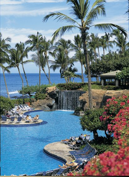 Hyatt Regency hotel in Maui where my family stayed during our first week in Hawaii