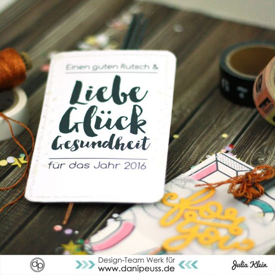DIY Gastgeschenk Silvestergruß mit Wunderkerzen | Tutorial mit Printable von Julia Klein für www.danipeuss.de
