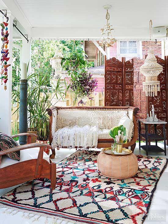 Gorgeous bohemian porch by fleamarketfab boho gypsy hippie