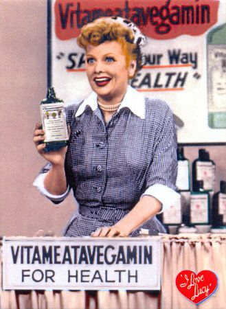 "Lucille Ball dolled up like Marilyn Monroe in a 1954 episode of ""I Love Lucy."":"
