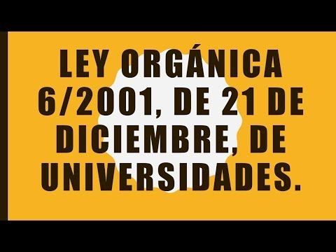 Youtube Ley Organica Universo Ley