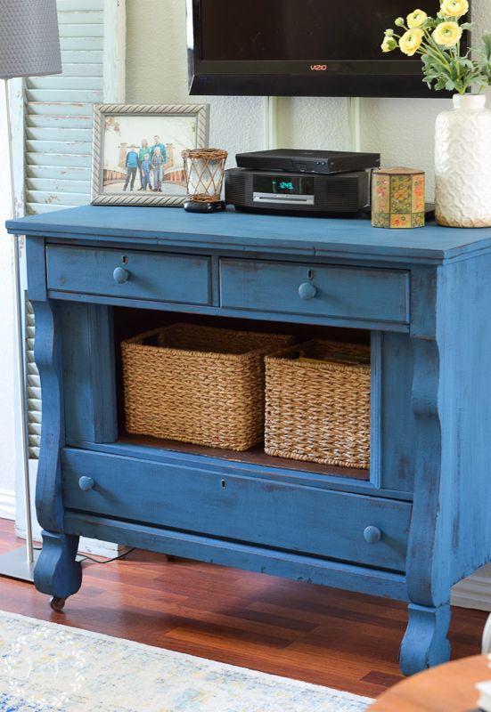 Milk Paint Oak Tv Stand Makeover Living Room Update Part 1 Lost Found Rustic Furniture Diy Painted Furniture Desk Oak Tv Stand