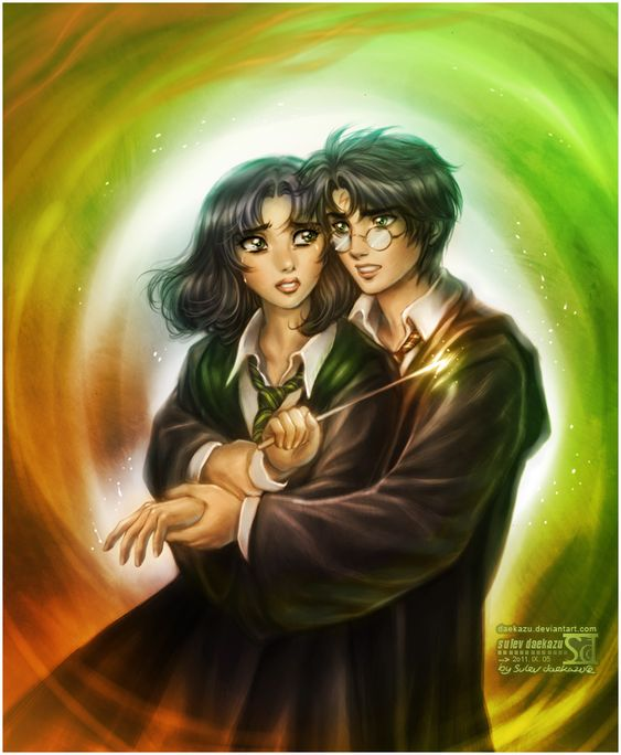 Harry and Pansy by *daekazu on deviantART
