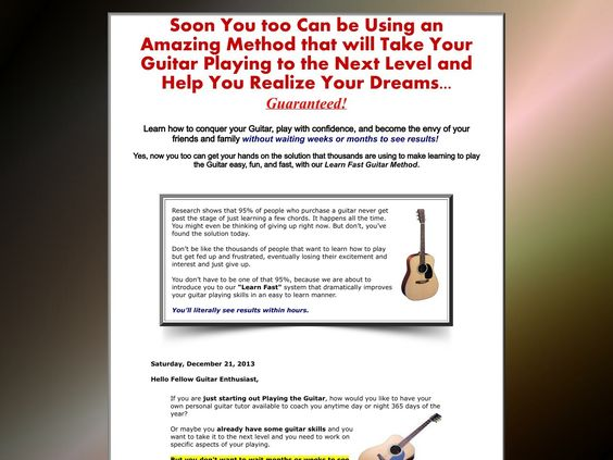 Learn To Play The Guitar - Learn Fast Method - http://www.vnulab.be/lab-review/learn-to-play-the-guitar-learn-fast-method