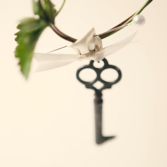 key to my heart boutonniere (one)