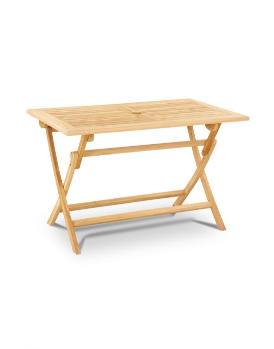 Outdoor Folded Dining Table Wooden Works Jepara Modern Furnitture