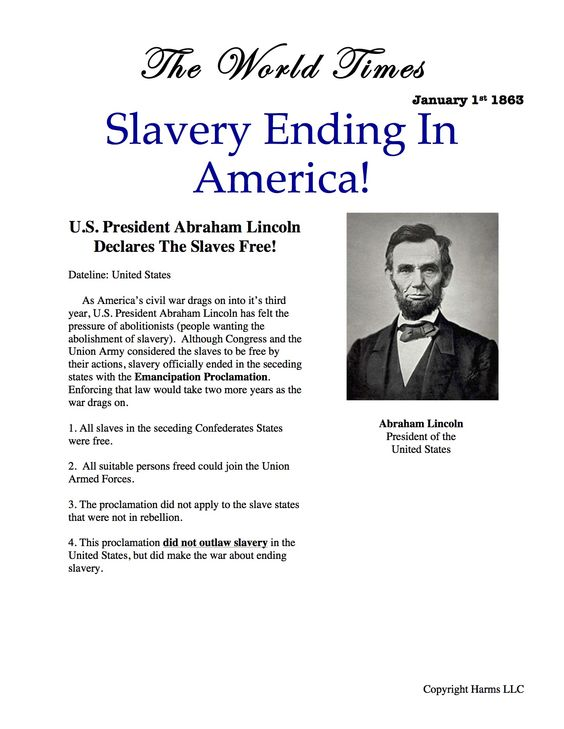 Printables Emancipation Proclamation Worksheet pinterest the worlds catalog of ideas emancipation proclamation as civil war simulation rages on students learn why lincoln