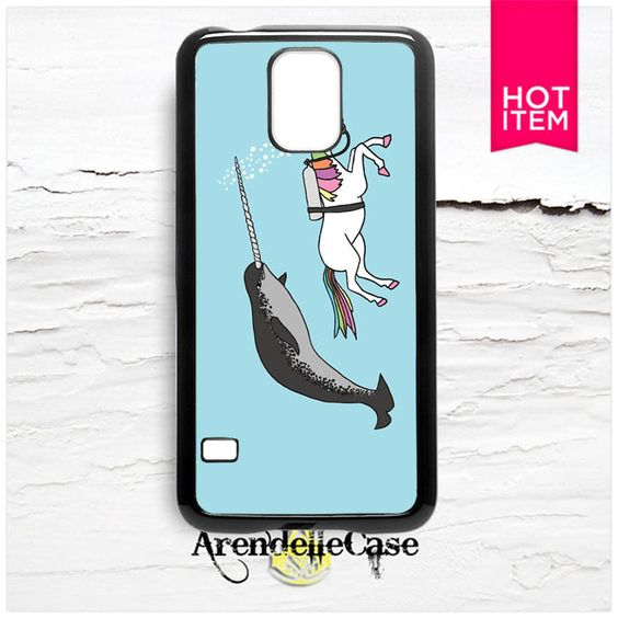 Unicorn With Narwal Whale Samsung Galaxy S5 Case