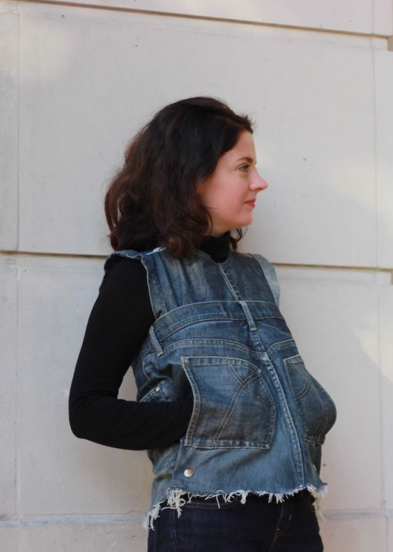 Jeans sewing makeover -version B