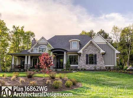Plan 16862wg cozy 3 bed cottage with bonus house plans for Craftsman house plans with bonus room