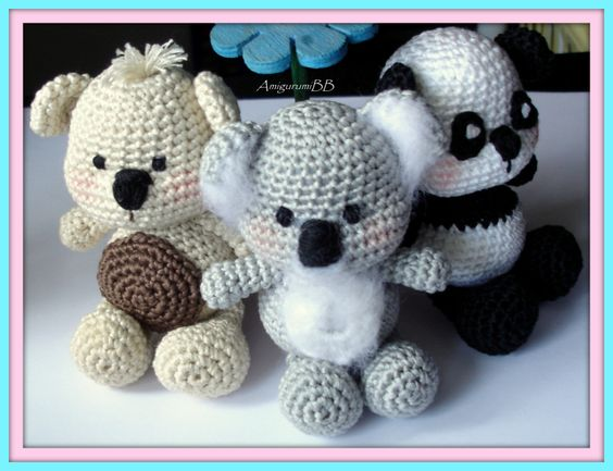 Crochet Pattern Koala Bear : Free crochet, Crochet and Bears on Pinterest