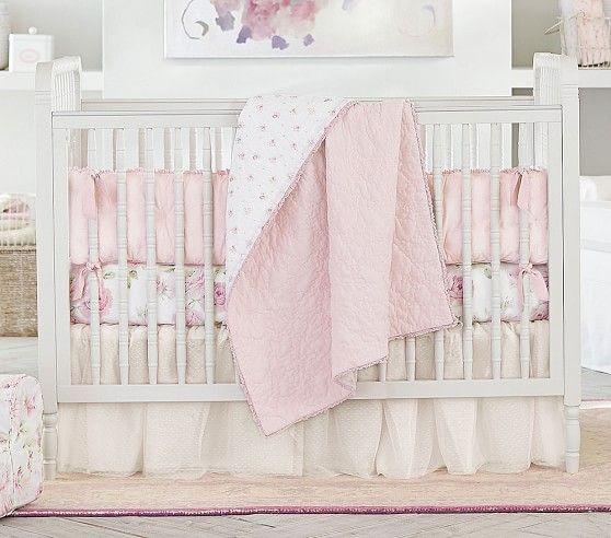 Rachel Ashwell Baby Blush Embroidered, Blush Pink Baby Bedding