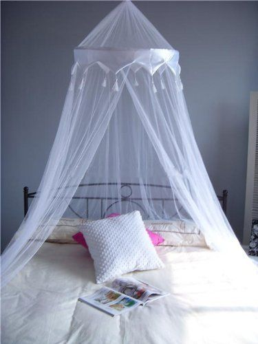 A-Express® White Mosquito Net Bed Canopy Up To King Size 100 ...