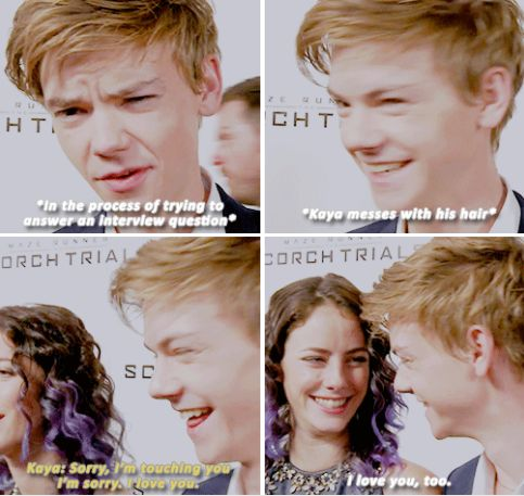 Thomas Sangster and Kaya Scodelario - I'm sorry — your ...