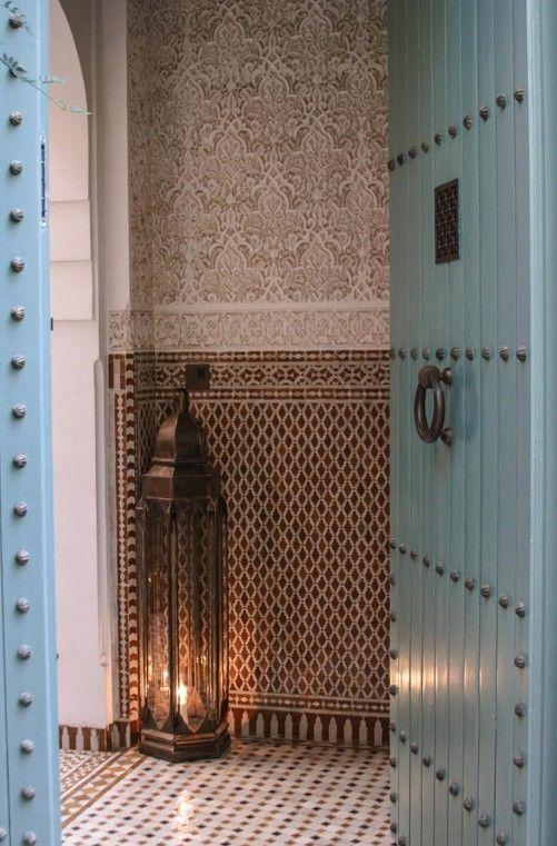 モロッコインテリア 玄関 ランプ コーディネート例
