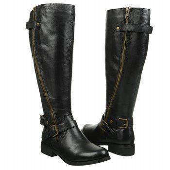 Women's Steve Madden Synicle Wide Calf Riding Boot Black Leather ...
