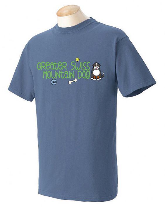 Greater Swiss Mountain Dog Doodle Garment Dyed Cotton T-shirt JxA0OfWL