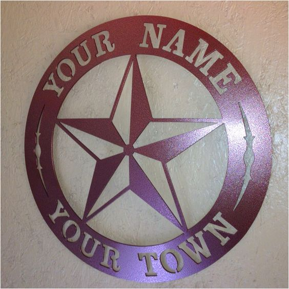 """These are 18"""" and cut from 11ga steel (.115 thick)-right at 1/8"""" thick. Welded hanger on the back and are powdercoated.  Star in center as shown or Texas in center, many other scenes on file. $99 plus $14.50 shipping add 8.25% in Texas. Smaller sizes,thinner metal-less money. Let me know your price range & I'll  work with you~JDH Iron Designs                         www.starsovertexas.com                                           email me:      jimmydon@starsovertexas.com   or call or text…"""