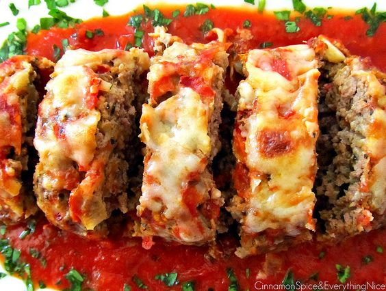Italian Meatloaf | 1 yellow onion, diced 1 fire roasted red pepper ...