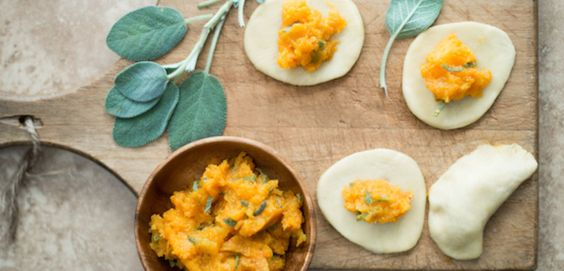 Roasted Butternut Squash and Sage Pierogi