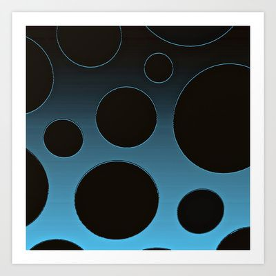 Contemporary Circles in Blue Art Print by Saundra Myles - $22.88
