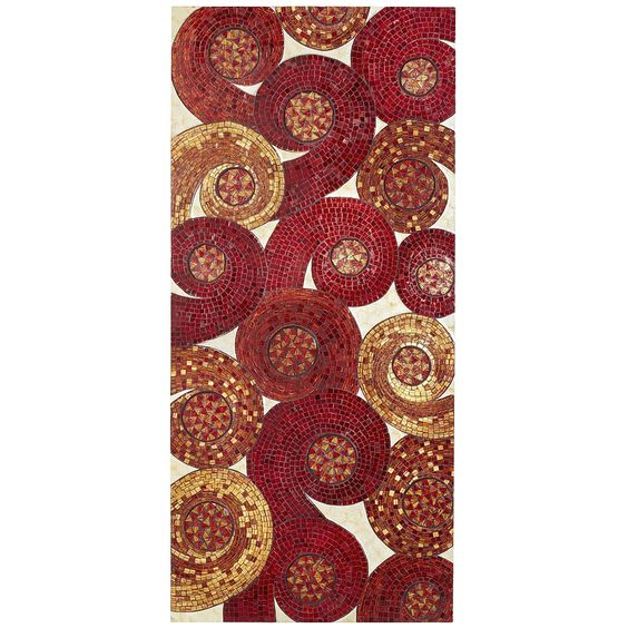 Red Mosaic Wall Decor : United states map wall decor mosaics pier imports and red