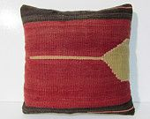 """Turkish cushion 18"""" sofa throw pillow kilim pillow cover decorative pillow case couch outdoor floor bohemian boho ethnic rustic accent 29459"""