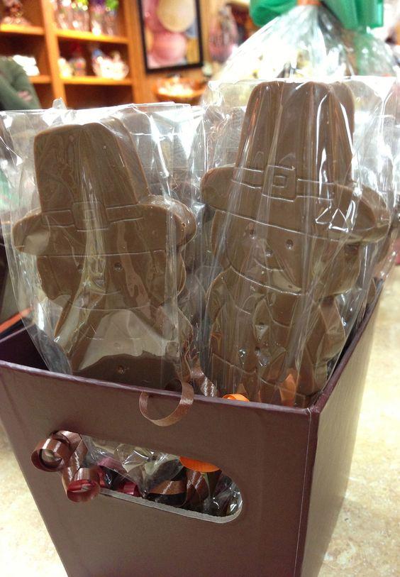Chocolate Pilgrims :) www.dunmorecandykitchen.com