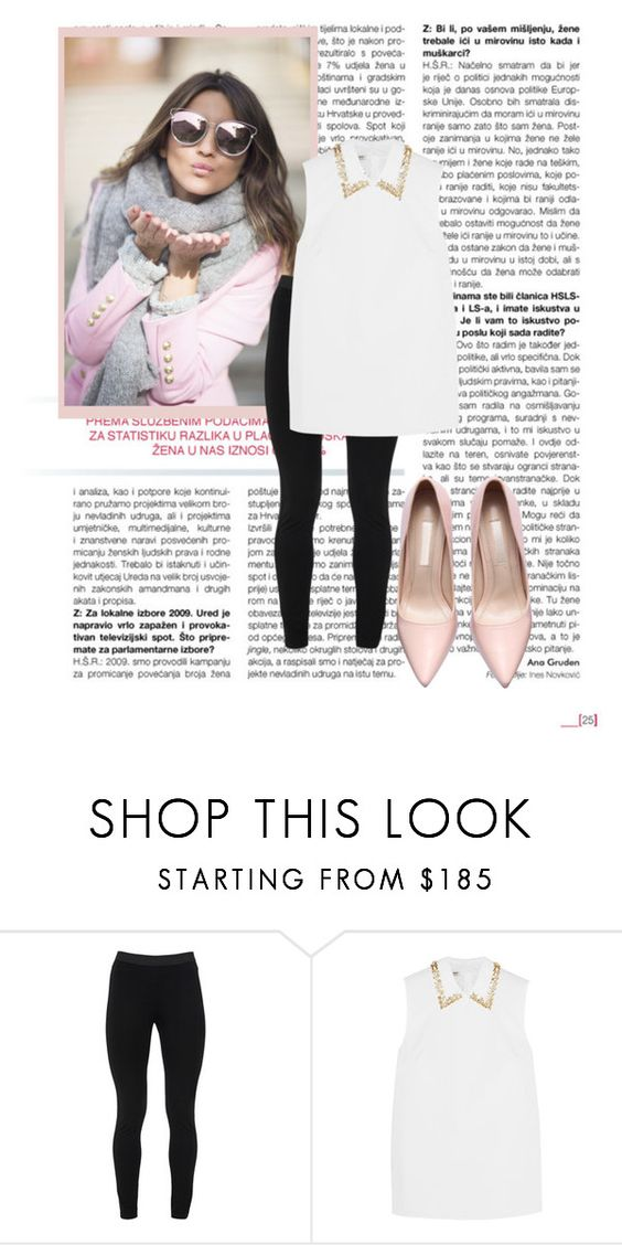 """""""Untitled #1"""" by fashionlife940 ❤ liked on Polyvore featuring Peace of Cloth, Miu Miu, women's clothing, women's fashion, women, female, woman, misses and juniors"""