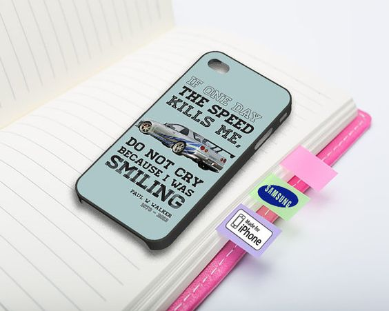 RiP Paul Walker Quotes Phone Case For IPhone By