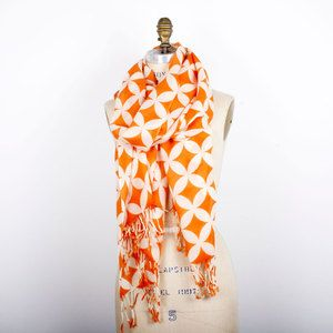 pur cashmere Groovy Scarf Orange now featured on Fab.