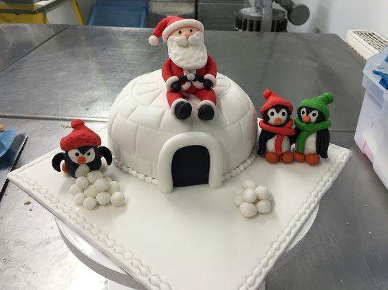 Christmas igloo Santa/penguin scheme