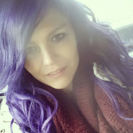 Love my hair more than life!! #purplehair