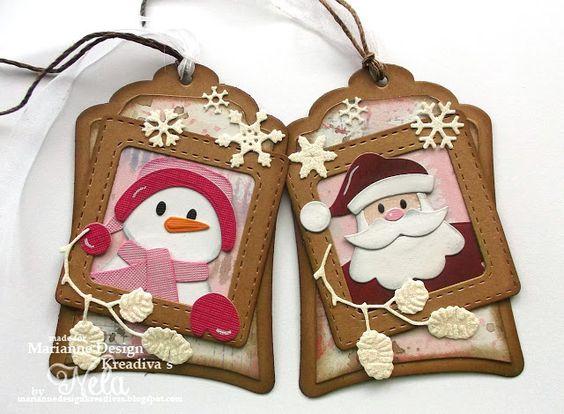 Nelasbasteleien: Weihnachts-Geschenkanhänger