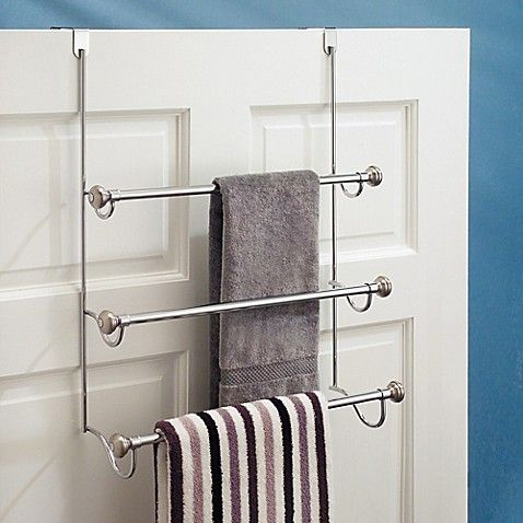 Ideas For Hanging Storing Towels In A Really Small Bathroom Storing Towels Towel Rack Over Door Towel Rack