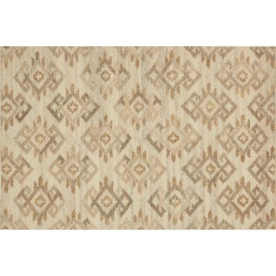 "Loloi Rugs Akina Hand-Woven Ivory/Beige Area Rug Rug Size: 3'6"" x 5'6"""