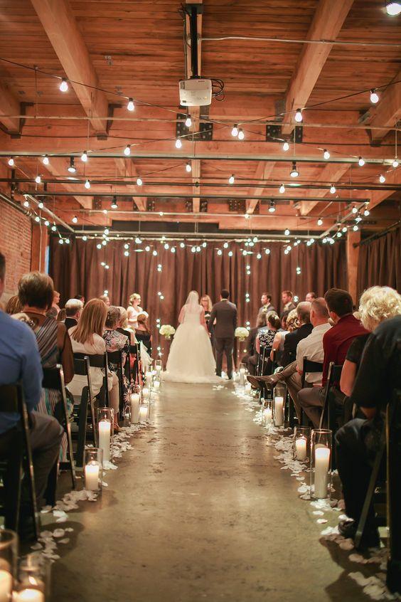 Another breathtaking ceremony at Melrose Market Studios on Capitol Hill! Ravishing Radish Catering   Amanda Lloyd Photography